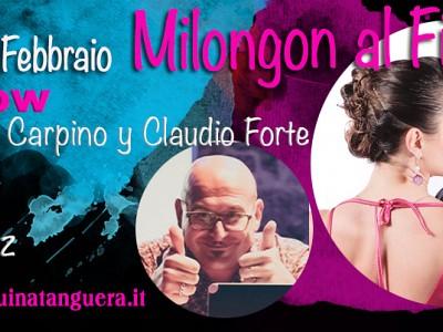 Sabato 24 Febbraio: Milongon al Fienile - Show di Barbara Carpino y Claudio Forte - Dj Ciò iL Fuz