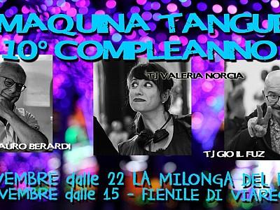 10° Compleanno La Maquina Tanguera 2 Giorni di Tango in Versilia