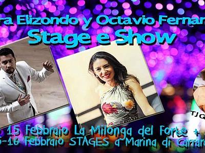 Weekend con Laura Elizondo y Octavio Fernandez. Stage, Milonga e Show